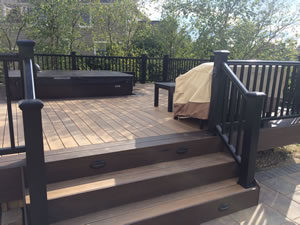 Deck Amp Patio With Hot Tub And Fire Pit Making A Great